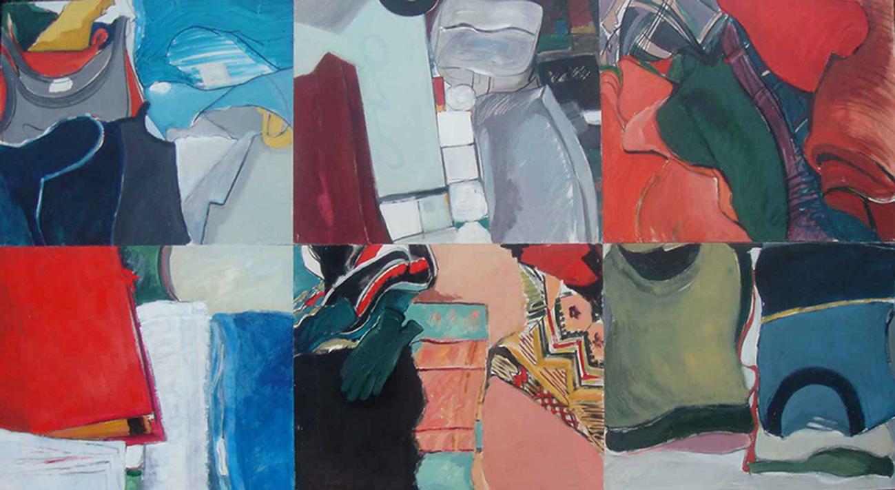 Cajones, 2006. Acrílico sobre tabla. 140 x 210 cm